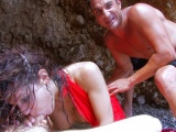 Vidéo porno mobile : Deepthroat lesson on the beach with Shannya
